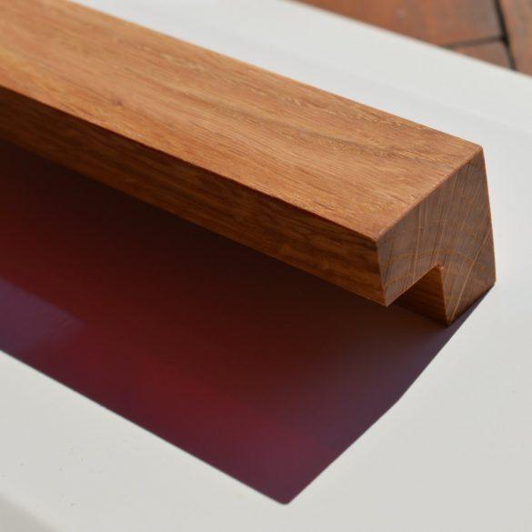 Modern Massivholz Möbelgriff, Eiche,  BA 64-96-128 mm, geölt
