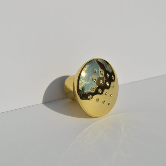 Metal furniture knob, gold colour