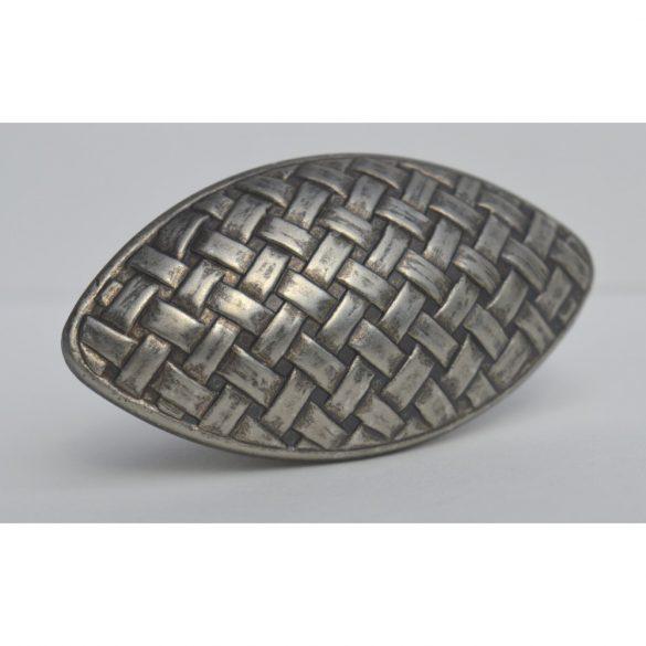 Patina nickel coloured metal furniture handle