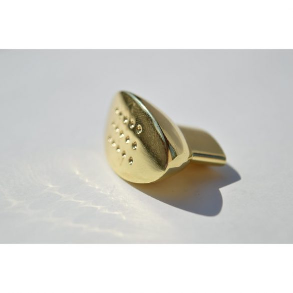 Metal furniture handle, gold colour, 16 mm hole spacing