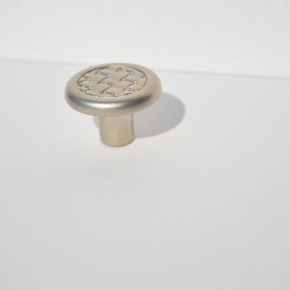 Classic style metal furniture knob in matt chrome finish