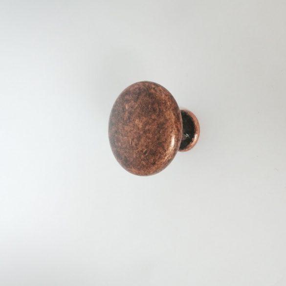 Fém bútorgomb, antik réz színű