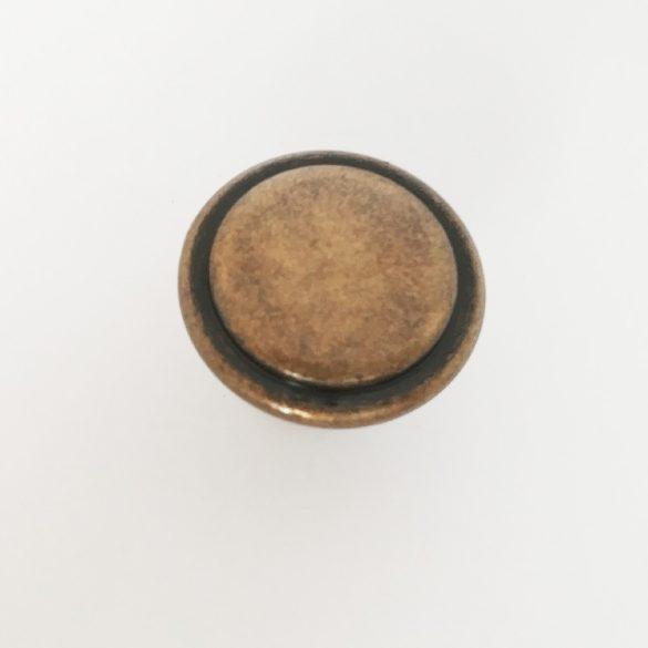 Fém bútorgomb, antik bronz színű