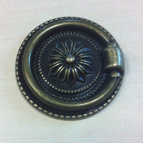 Metal furniture handle, diameter 37 mm