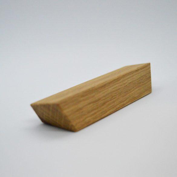 Tölgy tömör fa bútorfogantyú, olajozott, 32 és 63 mm furattávval kialakítva