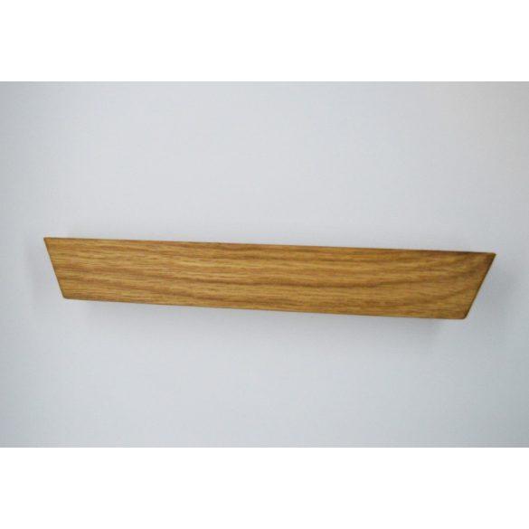 Tömörfa bútorfogantyú, két oldalt vágott, olajozott tölgy, 64 - 96 - 128 mm furattávval