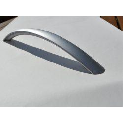 Metal furniture handle in matt chrome