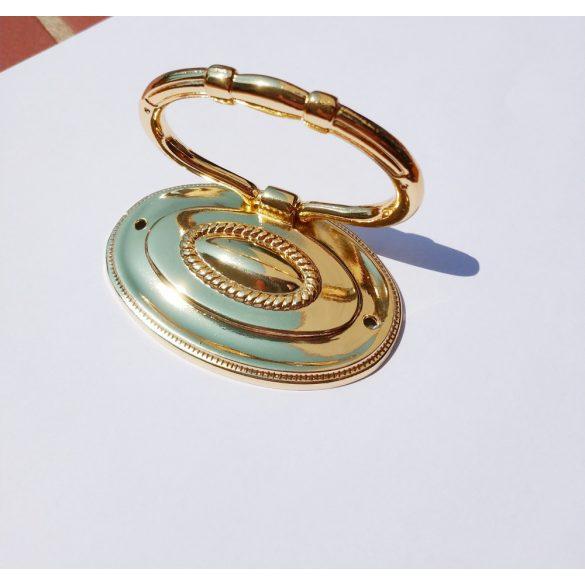 Metal furniture handle, gold, 32 mm hole spacing