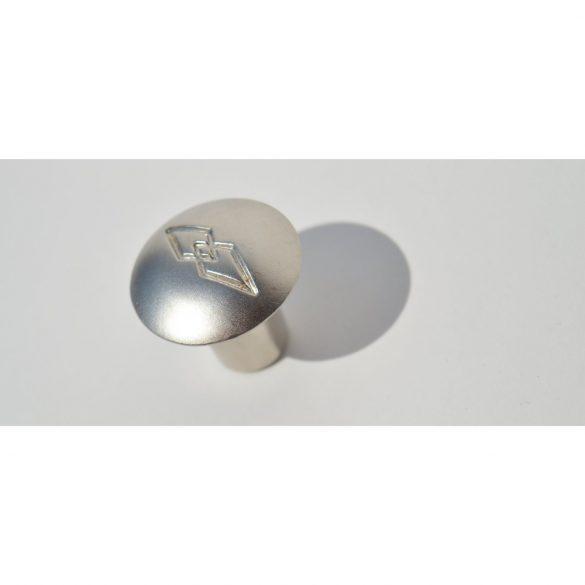 Fém bútorgomb, matt nikkel színű