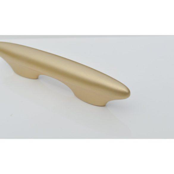 Matt arany, műanyag bútorfogantyú, 64 mm furattáv, retro
