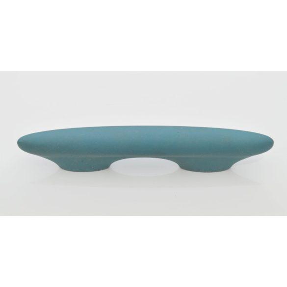 Bársony zöld, műanyag bútorfogantyú, 64 mm furattáv, retro