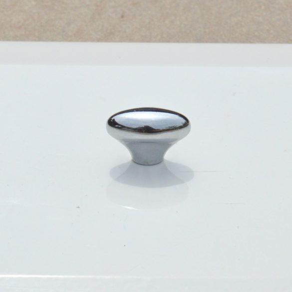 Műanyag bútorgomb, fényes ezüst színű