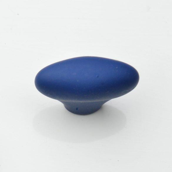 Bársony kék, műanyag gomb bútorfogantyú, retro