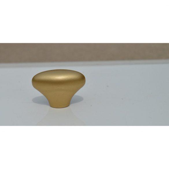 Matt arany, műanyag gomb bútorfogantyú, retro