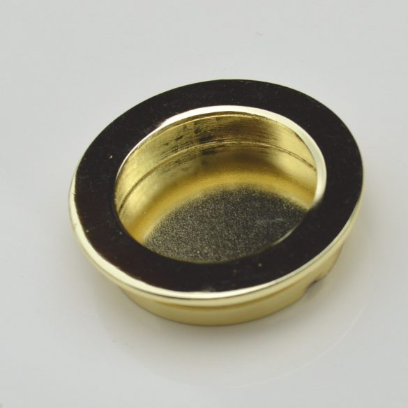 Süllyeszthető, arany, fém bútorfogantyú