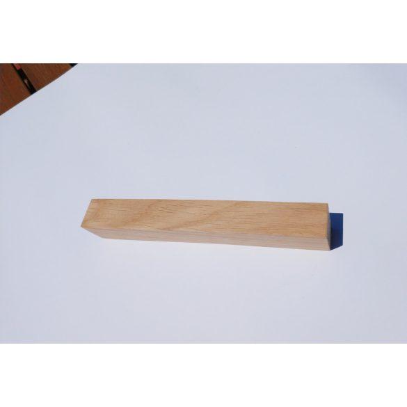 Fa bútorfogantyú, natúr tölgy, 64-96-128 mm furattávval