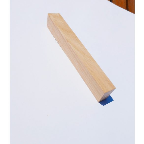Wooden furniture handle, natural oak, with 64-96-128 mm bore spacing