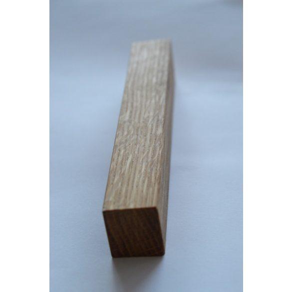 Fa bútorfogantyú, olajozott tölgy, 64 - 96 -128 mm furattávval