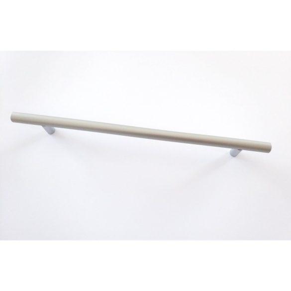 Fém bútorfogantyú, matt króm színű, 384 mm furattávolság, modern, rúd fogantyú