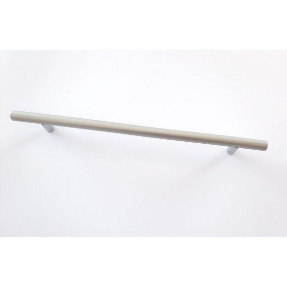 Fém bútorfogantyú, matt króm színű, 416 mm furattávolság, modern, rúd fogantyú