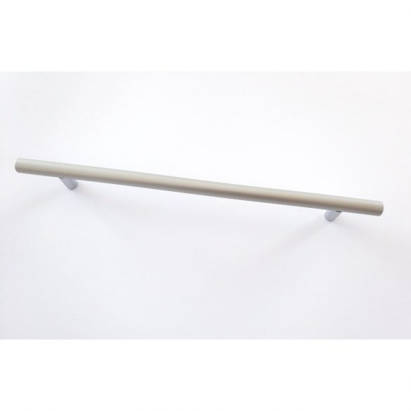 Metal furniture handle, matt chrome, 416 mm bore spacing, modern, rod handle