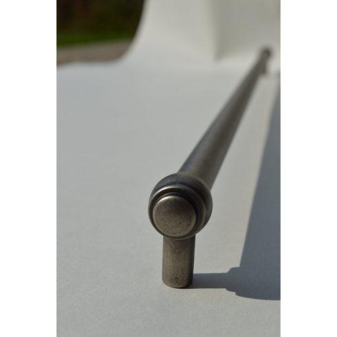 Fém Bútorfogantyú, antik fekete, 480 mm furattávolság