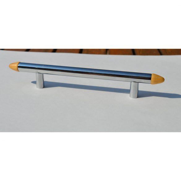 Shiny chrome-pine colour, metal-wood handle