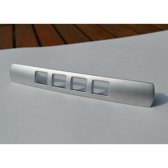Matt nickel coloured metal furniture handle