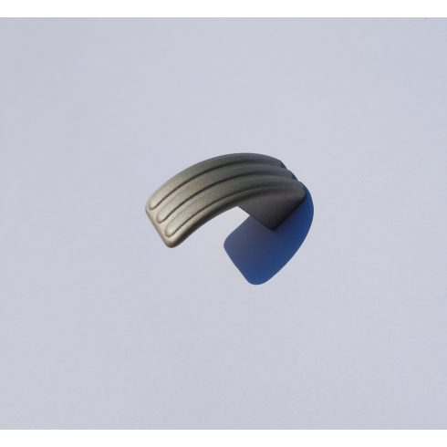 Fém Fogantyú, gomb, matt nikkel szín, átmérő 24 x 35 mm