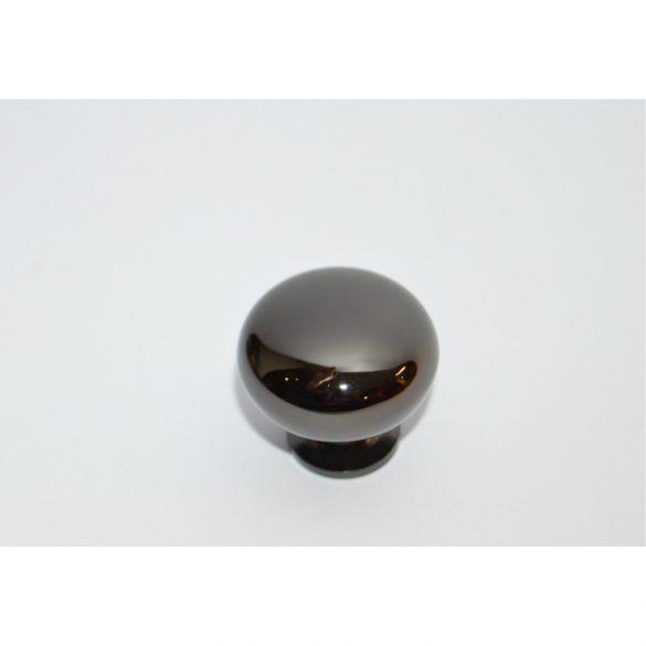 Shiny black metal furniture knob