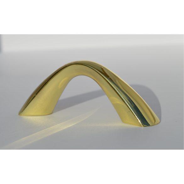 Fém bútorfogantyú, arany színben, 32 mm furattáv