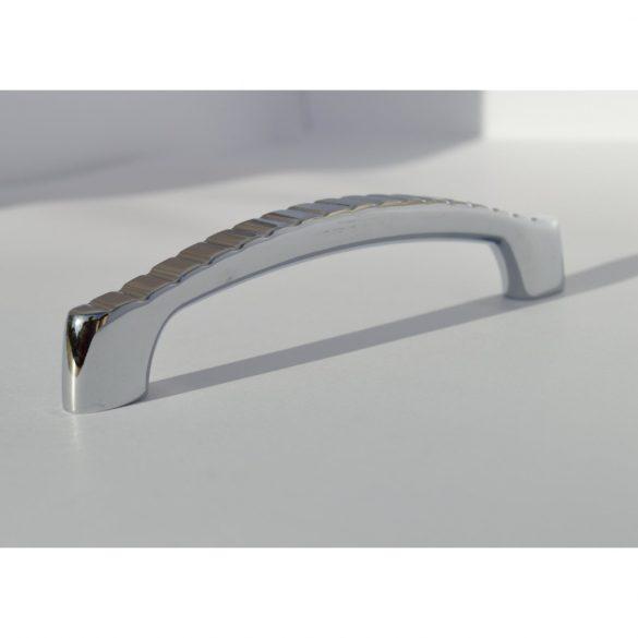 Metal furniture handle, bright chrome colour, 96 mm bore size