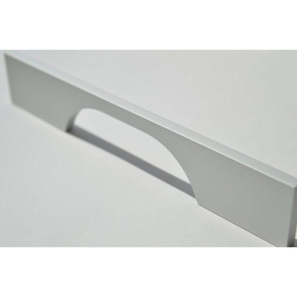 Fém, matt króm, modern bútorfogantyú, 128 mm furattávolsággal