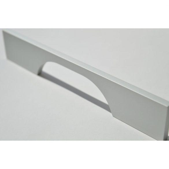 Fém bútorfogantyú, matt króm színű, 128 mm furattávval