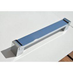 Metal furniture handle in shiny chrome
