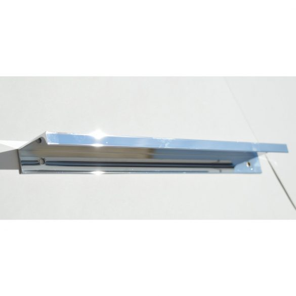 Metall-Möbelgriff, kantenmontierbar, chrom