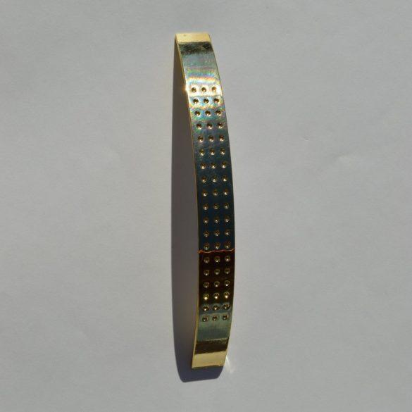 Fém bútorfogantyú, arany szín, 128 mm furattávolság