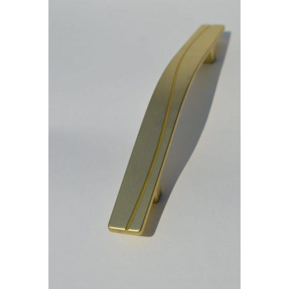 Matt gold metal furniture handle