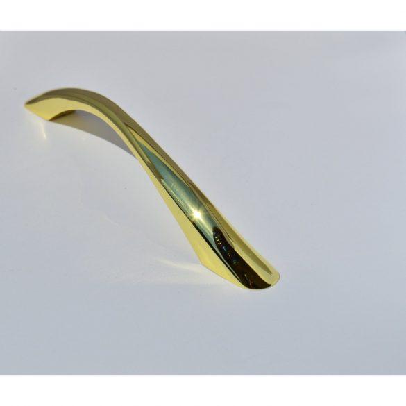 Gold coloured metal furniture handle
