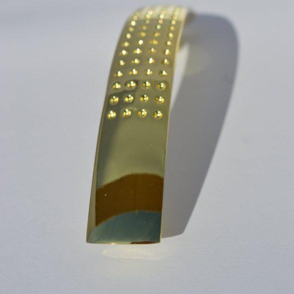 Fém bútorfogantyú, arany színű, 96 mm furattávval