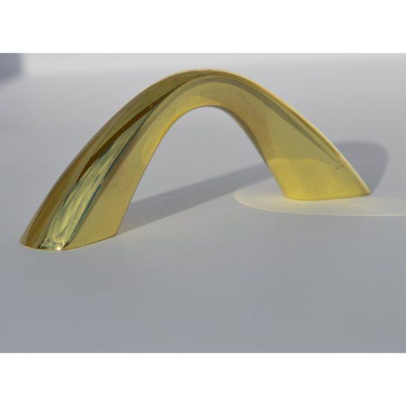 Fém bútorfogantyú, arany színű, 64 mm furattáv