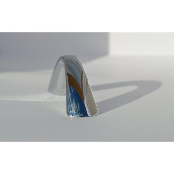Fém bútorfogantyú, króm színű, 64 mm furattávval
