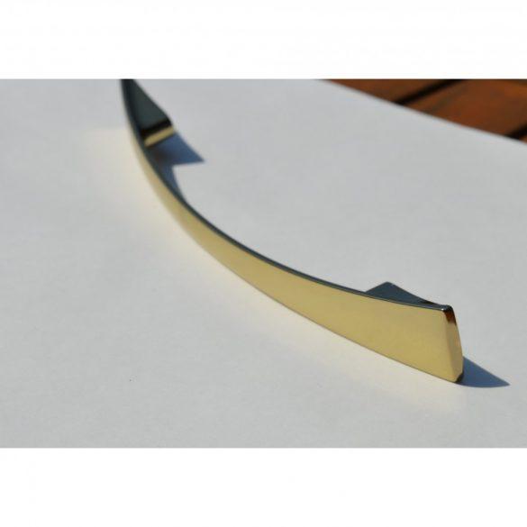 Fém bútorfogantyú, arany színű, 128 mm furattáv, Modern