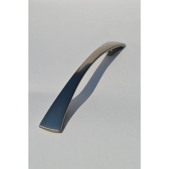 Fém bútorfogantyú, elox nikkel színű, 128 mm furattávval