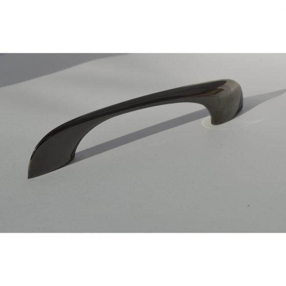 Metal furniture handle in black with a modern look