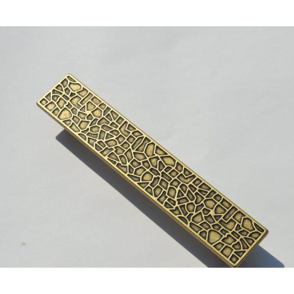 Fém bútorfogantyú, bronz színű, 128 mm furattáv, Modern