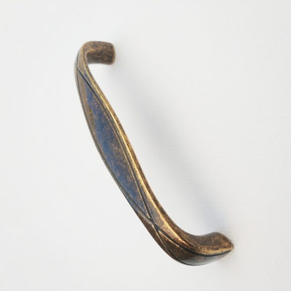 Fém bútorfogantyú, fényes bronz színű, 128 mm furattávval