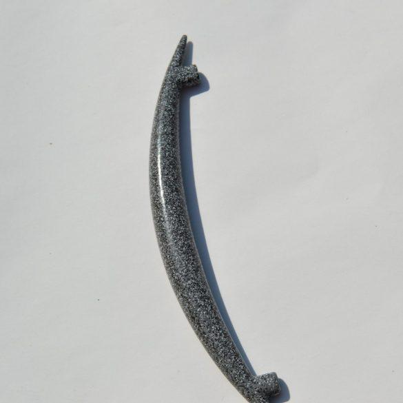 Metal furniture handle in dark grey sprinkled colour