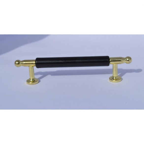Fém-műanyag bútorfogantyú, arany - fekete színű, 96 mm furattávval