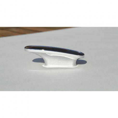 Fém-műanyag bútorfogantyú, króm, fekete, 32 mm furattáv